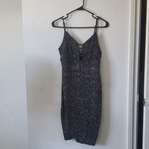 Black Sparkly Dress - Haute Monde